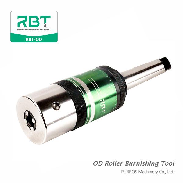 Utensile per brunitura a rulli estraibili (diametri esterni, utensile per brunitura a rulli) RBT-OD