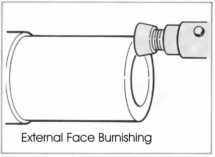 RBT Utensili per la lucidatura dei rulli a uso superficiale multipla Face Burnishing