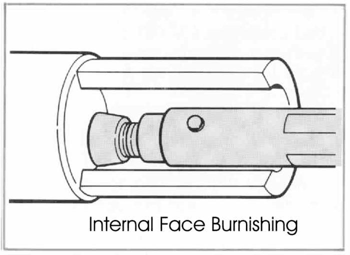 RBT Utensili per la lucidatura dei rulli multiuso con superficie interna Face Burnishing