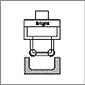 RBT Utensili per la lucidatura dei rulli Utensili per rullatura con foro passante ID larghezza