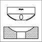 Utensili per brunitura a rullo RBT Utensile per brunitura per profili concavi