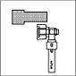 RBT Utensili per bricolage a rullo singolo Utensile per brunitura OD