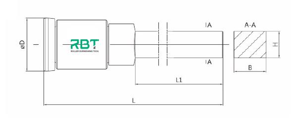 Single Roller Inner Diameter Burnishing Tools, Inside Surface Single Roller Burnishing Tool